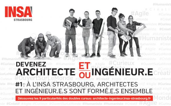 Visuel diplôme ingénieur architecte de l'INSA