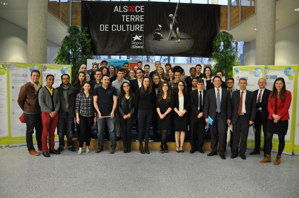Photo lauréats Concours Alsace Tech 2014-2015