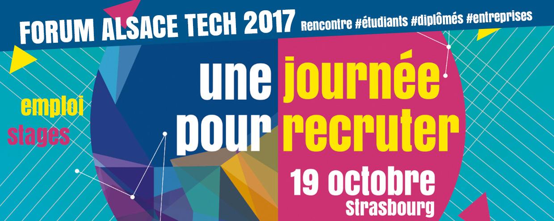 Bannière une journée pour recruter - forum 2017
